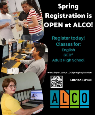 Spring Registration is open at ALCO