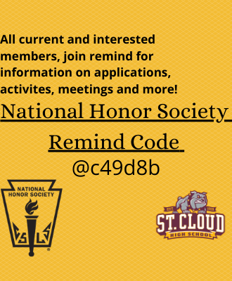 SCHS National Honor Society Remind Code